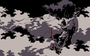 Foggy Afro Samurai wallpaper