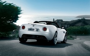 Alfa Romeo 8C Spider Rear wallpaper