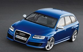 Audi RS6 Avant Front And Side 2008 wallpaper