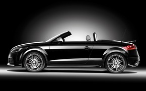 2009 Audi TT RS Roadster Black Side wallpaper