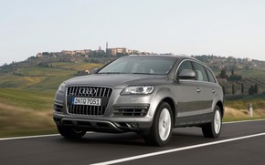 2009 Audi Q7 - Grey Front Angle Speed 1 wallpaper