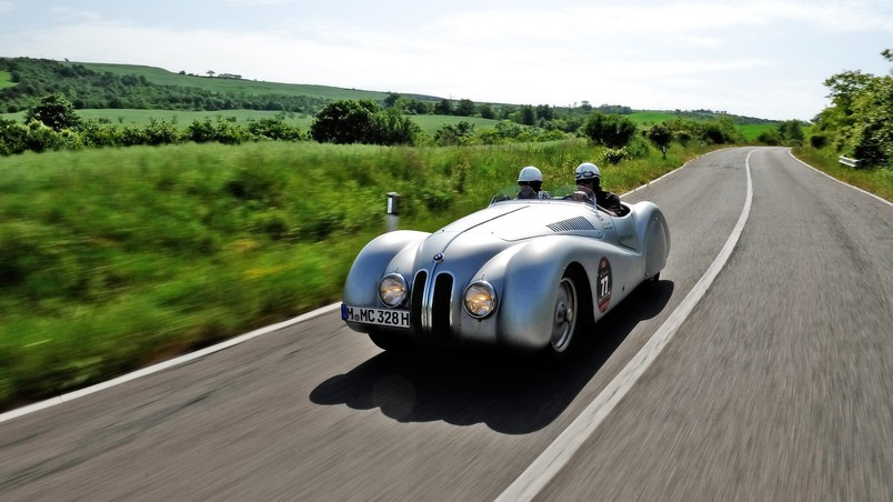 BMW 328 Mille Miglia Silver wallpaper