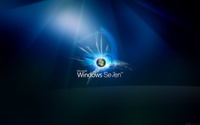 Windows Seven Glow wallpaper