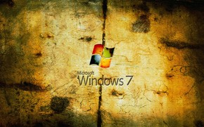 Grungy Windows Seven wallpaper