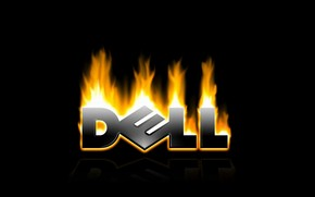 Dell in fire wallpaper