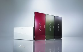 Sony Vaio 4 colors wallpaper