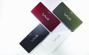 Sony Vaio 4 colors game wallpaper