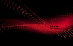 Toshiba red wave wallpaper