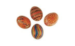 Red Easter Eggs wallpaper
