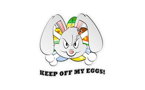 Keep out of my eggs wallpaper