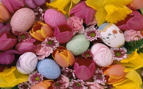 Easter Pastel Eggs wallpaper
