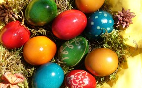 Easter Colors Eggs wallpaper