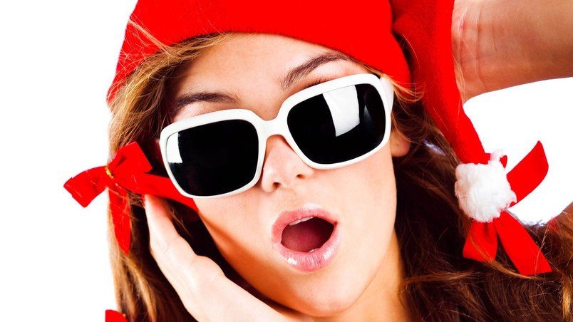 Festival Christmas Sunglasses wallpaper