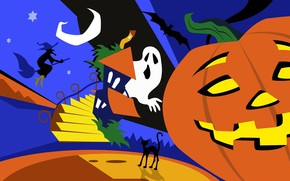 Colourful Halloween Art wallpaper