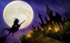 Halloween  Night Moon wallpaper