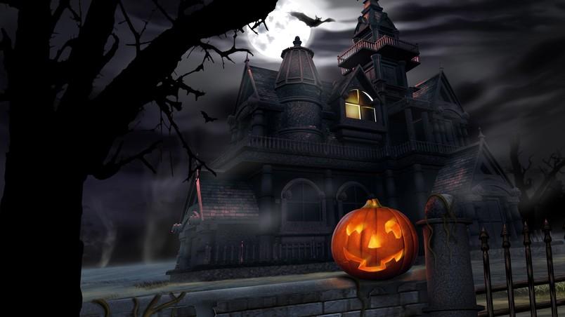 Pumpkin In Haloween Dark Night Hd Wallpaper Wallpaperfx