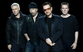 U2 black background wallpaper