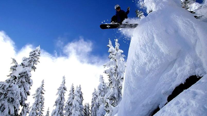 Mountain Snowboarding Hd Wallpaper Wallpaperfx