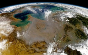 Great Earth view from Space wallpaper