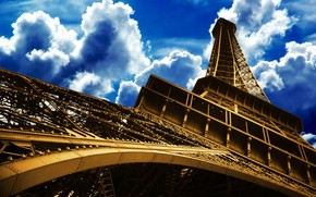 Eiffel Tower Down to Top wallpaper