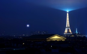 Eiffel Tower Light wallpaper
