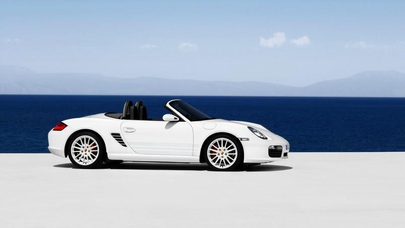 Porsche Boxster S 2009 Beach wallpaper