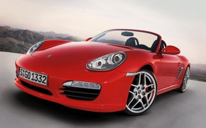 Porsche Boxster S 2009 Red wallpaper