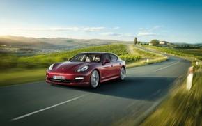 Porsche Panamera V6 Cherry 2010 wallpaper