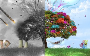 3D Tree Fantasy wallpaper