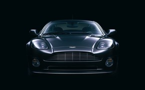 Black Front Aston Martin Vanquish wallpaper