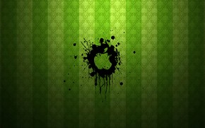 Apple Green Splash wallpaper