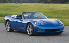 Corvette Convertible Front Side 2009 wallpaper