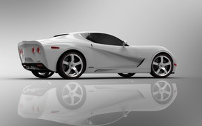 Corvette Z03 2009 White Rear And Side wallpaper