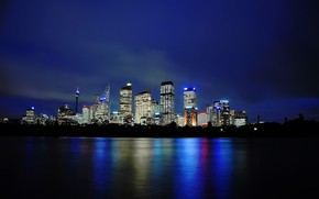 Sydney Picture Silky Reflections wallpaper