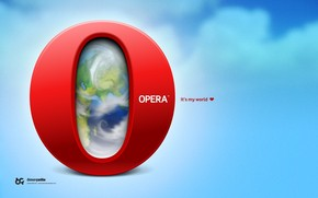 Opera My world wallpaper