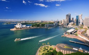 Downtown Sydney and Waterfront wallpaper