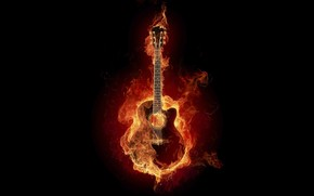 Great Fire Guitar wallpaper