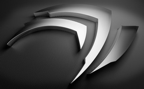 Nvidia grey shape wallpaper