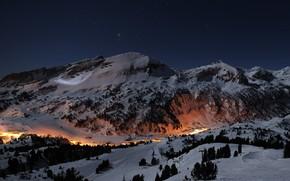 Interesting Winter Mountain View