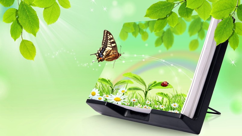 Nature 3D Abstract  View wallpaper