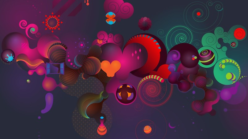 Colourful Abstract 3d Background Hd Wallpaper Wallpaperfx