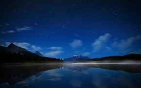 Maligne Starry Sky wallpaper