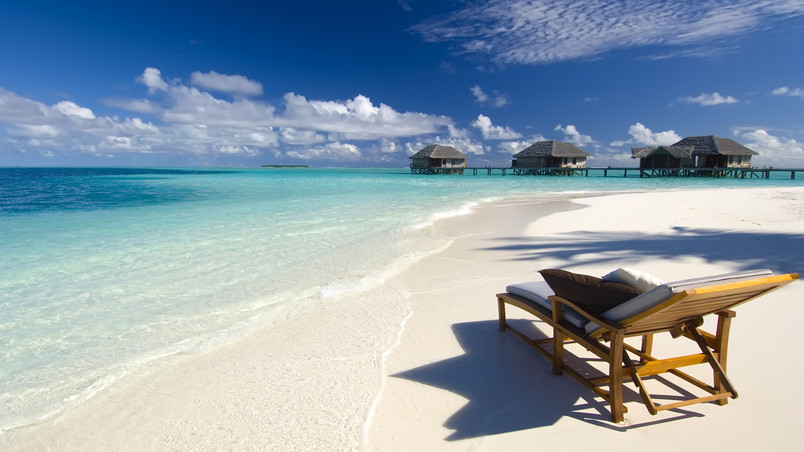 Maldives Conrad Beach wallpaper