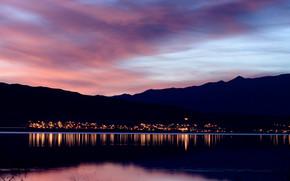 Utah Lake at Dusk