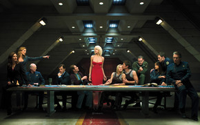 Battlestar Galactica Last Supper wallpaper