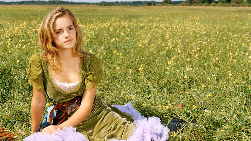 Emma Watson Spring Time wallpaper
