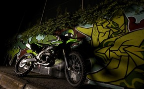 Green Kawasaki KX250F wallpaper