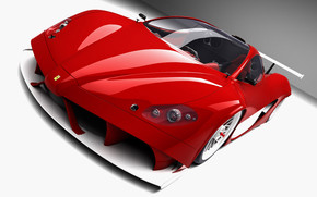 Red Ferrari Front Angle wallpaper