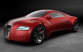 Audi R Zero Red Front Angle