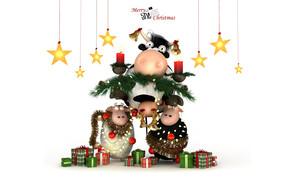 Christmas Happy Cow